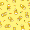Pattern with hamsters Stock Image