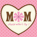 Pattern happy mothers day pink heart design with background and ribbon look Stock Photos
