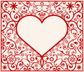 Pattern heart frame Stock Photos