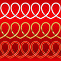 Pattern from hearts Royalty Free Stock Photo
