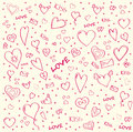 Pattern_hearts Royalty Free Stock Images