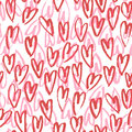 Pattern of hearts hand drawn vector sketch. Seamless heart art background hand drawn by marker or felt-tip pen drawing Royalty Free Stock Photo