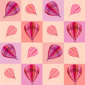Pattern with hot air balloons Royalty Free Stock Image