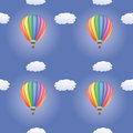 Pattern with hot air balloons seamless Stock Photo