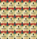 The pattern of houses