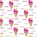 Pattern of ice cream