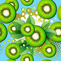 Pattern with kiwi slices Royalty Free Stock Image