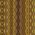 Pattern - knitted wool colored in brown Stock Photos