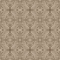 Pattern with leaves seamless and curls classic wallpaper Royalty Free Stock Photos