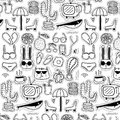 Pattern With Line Hand Drawn Doodle Lovely Background. Doodle Funny. Royalty Free Stock Photo