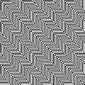 Pattern with line white and black in zigzag Stock Images
