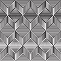 Pattern with line white and black in zigzag Royalty Free Stock Images