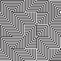 Pattern with line white and black in zigzag Stock Image
