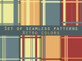 The pattern of lines, striped background, retro pattern, set of seamless patterns, retro colors.