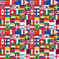 Pattern made of flag icons seamless Royalty Free Stock Photography