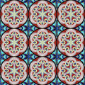 Pattern with mandala in boho chic style
