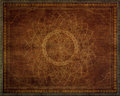 Pattern of mandala carved on wood Royalty Free Stock Images