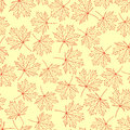 Pattern maple leaves variant on a yellow background Royalty Free Stock Photos