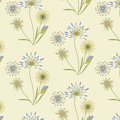Pattern medical grasses gentle beige blue on a light background art creative vector