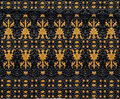 The pattern on metallic gate this is painted with gold and black color Royalty Free Stock Photos