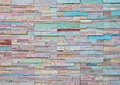 Pattern of Modern stone Brick Wall Stock Image