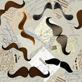 Pattern with moustache Stock Images