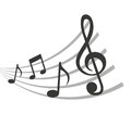 pattern music notes isolated icon design Royalty Free Stock Photo