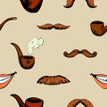 Pattern with mustache and pipe Royalty Free Stock Photo
