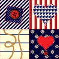 Pattern in nautical style Stock Photo
