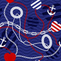 Pattern in nautical style with belts seamless background will tile endlessly vector illustration Stock Photo
