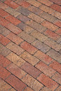 Pattern of a new brick walkway Royalty Free Stock Photo
