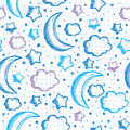 Pattern with night sky Royalty Free Stock Photography