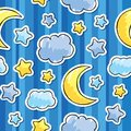 Pattern with night sky Stock Photo