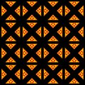 Vzor oranžový symetria dizajn