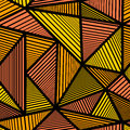 Pattern with orange triangle
