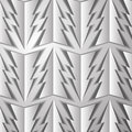 Pattern from the paper wood on a gray background Royalty Free Stock Images