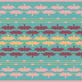 Pattern with pastel birds Stock Photography