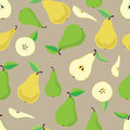 Pattern of pears Royalty Free Stock Photo