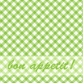 Pattern picnic green. Royalty Free Stock Photography