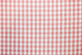 Pattern picnic tablecloth as a background Stock Photo