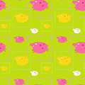 Pattern with pigs Stock Photos