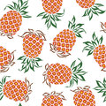 Pattern of pineapple i drew a for a design this painting continues repeatedly it is a vector work Royalty Free Stock Image