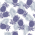 Pattern of pineapple i drew a for a design this painting continues repeatedly it is a vector work Stock Images