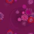 Pattern of the pink flowers seamless on violet background Stock Photography