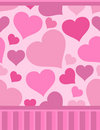 Pattern with pink hearts Royalty Free Stock Images