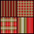 Pattern plaid seamless set Arkivbild