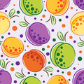 Pattern of plum and apricot Royalty Free Stock Image