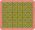Pattern, popular motif, regular motif, tablecloth, picture