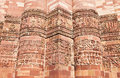 Pattern on Qutb Minar Stock Photos