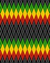 Pattern rastaman Royalty Free Stock Images
